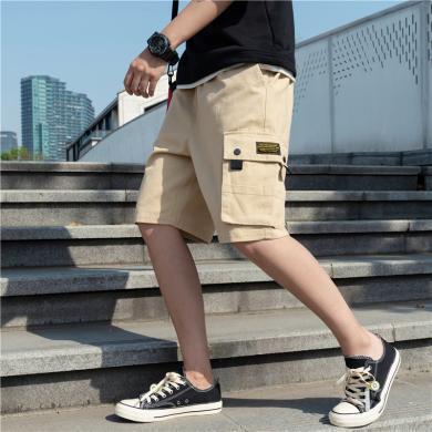 希?#20351;?#35013;短裤男潮牌ins2019夏季新款薄款五分宽松七分潮流百搭休闲裤YFDK155