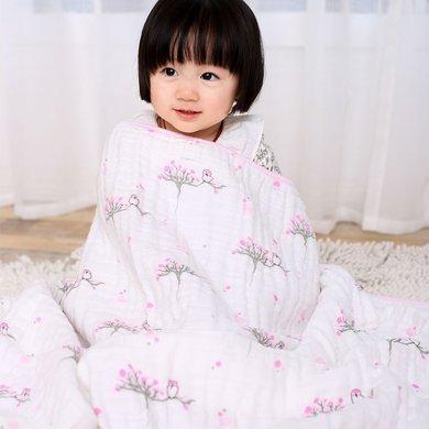 Marvelous kids嬰幼兒6層全棉雙面印花蓋毯午睡毯超柔軟嬰幼兒蓋被
