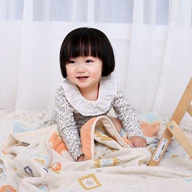 媽唯樂 Marvelous Kids 6層印第安嬰幼兒紗布蓋毯包被多功能