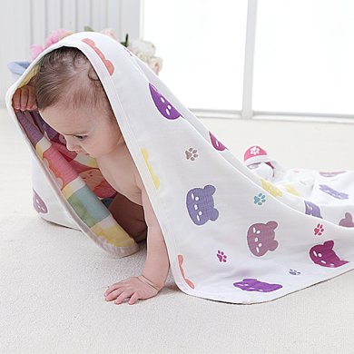 【到手價55】媽唯樂Marvelous Kids 6層嬰幼兒棉紗雙面印花蓋毯多功能被120*115cm