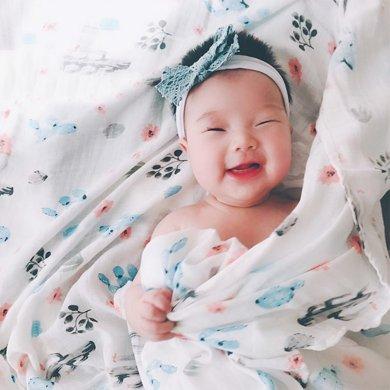 【出門神器一巾多用寶寶剛需】媽唯樂 Marvelous Kids muslin竹纖維紗布柔軟寶寶包巾包被嬰幼兒浴巾