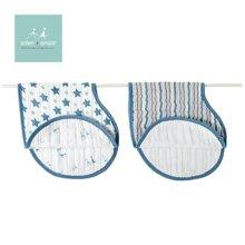 美国aden+anais宝宝多功能护肩口水巾婴儿围嘴围兜纱布2只装