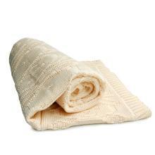 德国SonnenStrick有机棉婴儿毯宝宝抱毯小熊 米黄色