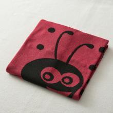 德国SonnenStrick有机棉婴儿毯宝宝抱毯瓢虫图案 红黑色