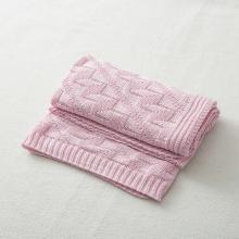 德国SonnenStrick有机棉婴儿毯宝宝抱毯钻石纹 粉红