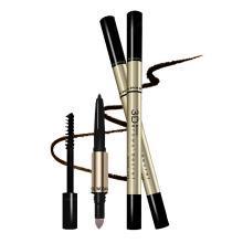 【支持购物卡】泰国Mistine 3D立体眉笔一字眉笔眉粉染眉膏三合一 1#深棕色