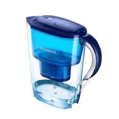 美國西屋(Westinghouse) 過濾凈水器 家用濾水壺 凈水壺 3.5L寶藍色 濾水壺