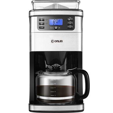 東菱(Donlim)DL-KF800 美式咖啡機 全自動家用現磨一體 辦公室咖啡壺
