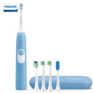 飛利浦(PHILIPS)電動牙刷 成人聲波震動 青春正畸 帶齒間呵護刷頭舌苔刷 HX6275/63-帶5支刷頭