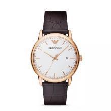 【支持购物卡】Armani阿玛尼薄款皮革带手表男 经典简约石英表男潮AR2502
