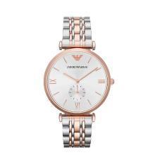 [支持購物卡]Armani阿瑪尼混色鋼表帶手表男 時尚簡約正品石英男士腕表AR1677