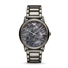 阿瑪尼(Emporio Armani)手表 男士天然大理石鋼帶腕表 獨特大理石紋路AR11155