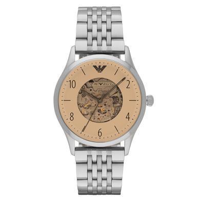 阿瑪尼(Emporio Armani)手表男士手表 全自動機械鏤空時尚商務男表機械表  AR1922
