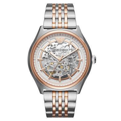 阿瑪尼(EmporioArmani)手表鋼制表帶經典時尚休閑機械男士時尚腕表AR60002