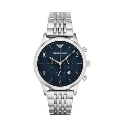 阿瑪尼(Emporio Armani)手表 時尚日歷計時男表休閑皮帶男士手表腕表男 AR1942