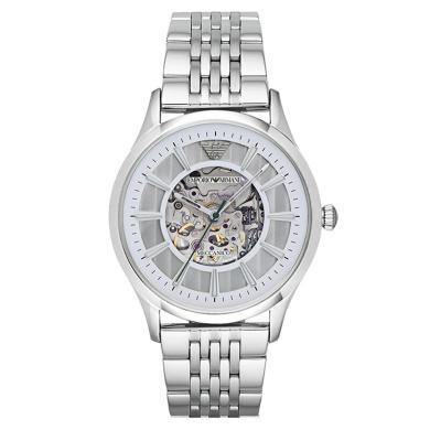 阿瑪尼(EmporioArmani)手表鋼制表帶經典時尚休閑機械男士時尚腕表 AR1945