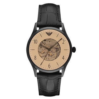 阿瑪尼(Emporio Armani)手表男士手表 全自動機械鏤空時尚商務男表機械表 機械鋼帶男表 AR1923