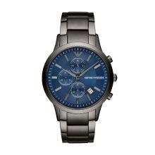 阿瑪尼 (Emporio Armani )鋼帶藍色商務男士手表新品簡約時尚圓形腕表AR11215