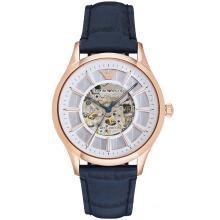 阿瑪尼(Emporio Armani)手表皮質表帶男士休閑時尚機械腕表 AR1947