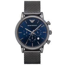 阿瑪尼(ARMANI)手表 時尚日歷計時男表休閑皮帶男士手表腕表男 AR1979