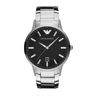 阿瑪尼(Emporio Armani)手表 鋼制表帶商務時尚休閑石英男士腕表 AR2457