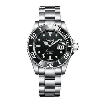 【支持購物卡】瑞士迪沃斯DAVOSA 特勒斯潛水表200米黑水鬼機械男表16155550