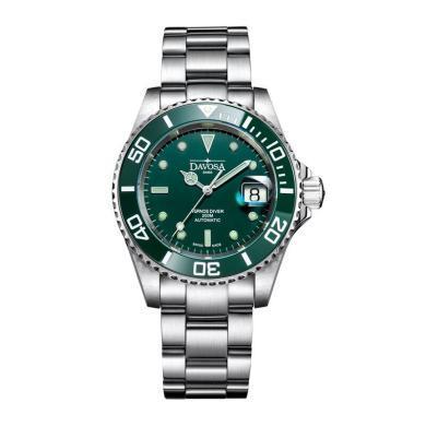 【支持購物卡】瑞士進口迪沃斯DAVOSA綠水鬼夜光潛水表 16155570 機械男表