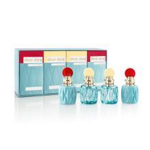 【支持購物卡】MiuMiu繆繆 香水小樣Q版本套盒EDP 7.5ml*4 不帶噴頭(同名女士香水-紅蓋*2+淺藍清新女士-黃蓋*2)