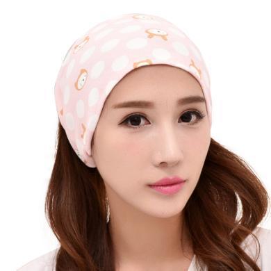 摩登孕媽 新款百搭韓版全棉孕婦頭巾坐月子產后月子帽松緊頭巾洗臉化妝頭箍女