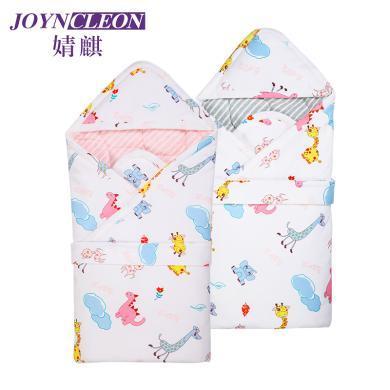 婧麒嬰兒抱被春秋新生兒包被初生寶寶用品純棉襁褓包被子四季通用   BB1006