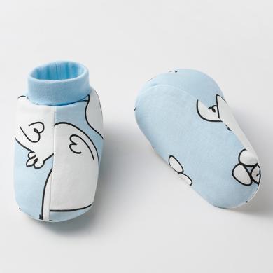 婧麒嬰兒護腳套春秋寶寶保暖鞋套新生兒童軟底睡袋腳套鞋子睡覺  Jjt1353