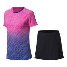 李宁羽毛球比赛套装女士新款透气一体织女装运动服AATN022