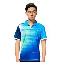 Kawasaki/川崎 2019年新款羽毛球运动服男女情侣短袖 翻领T恤舒适