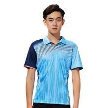 Kawasaki/川崎 2019年新款羽毛球运动服?#20449;?#24773;?#38706;?#34966; 翻领T恤速干