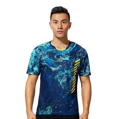Kawasaki/川崎 2019年新款羽毛球運動服男女情侶短袖 V領T恤