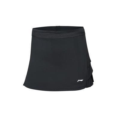 李寧褲裙女士2019新款國家隊比賽服羽毛球系列吸汗假兩件運動褲ASKP102