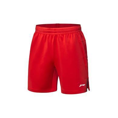 李寧羽毛球比賽褲男士2019新款國家隊比賽羽毛球系列速干運動褲男AAPP277