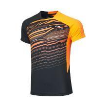 李寧羽毛球比賽服男士2019新款速干T恤女透氣涼爽針織短袖運動服AAYP327