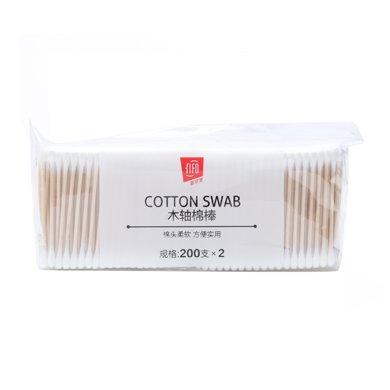 菲爾芙卡袋裝棉簽(木棒)(2*200支)