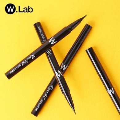 W.Lab真巧眼線液筆wlab眼線筆女防水韓國細w防汗不暈染不脫色