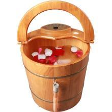 皇威(huangwei) 纯天然橡木桶自动加热按摩足浴盆 H-9008B