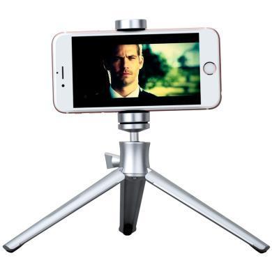 momax摩米士精英三腳架 手機自拍桿手機夾數碼相機微單架三角架 銀色