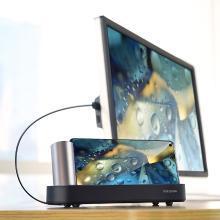 洛克rock云启type-c扩展王座无线HDMI同屏器华为荣耀手机连接电视机投影仪办公体感游戏燃烧我的卡路里
