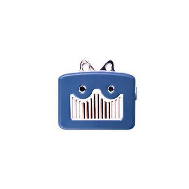 屁顛蟲XC10藍牙音響迷你音箱卡通可愛掛包音響 藍色