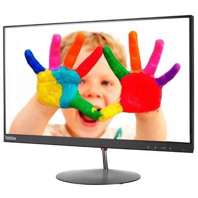 聯想(ThinkVision)X23 23英寸窄邊框LED背光液晶顯示器 178度ips廣視角硬屏 高清1080P 超窄內邊框3.55MM 屏占比89% 全金屬支架!