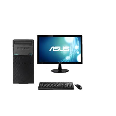 华硕台式电脑D320MT(I5 7400 DDR4 4G 1TB 23.8寸 网络同传 三年保修上门服务)(D320MT)