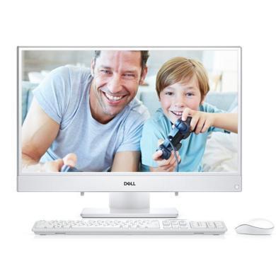 戴爾(DELL)靈越3480-1328 23.8英寸辦公游戲窄邊框一體機臺式機電腦 i3-8130U 4G 1TB MX110 2G獨顯 白色