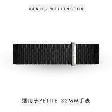 丹尼尔惠灵顿(Daniel Wellington)DW女手表时尚针扣黑色尼龙14mm表带