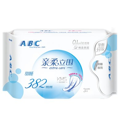 ABC�H柔立��超�L夜用超�O薄(3片)
