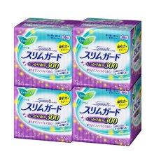 【4包装】日本花王LAURIER乐而雅瞬吸超薄1mm卫生巾 夜用30cm*15片